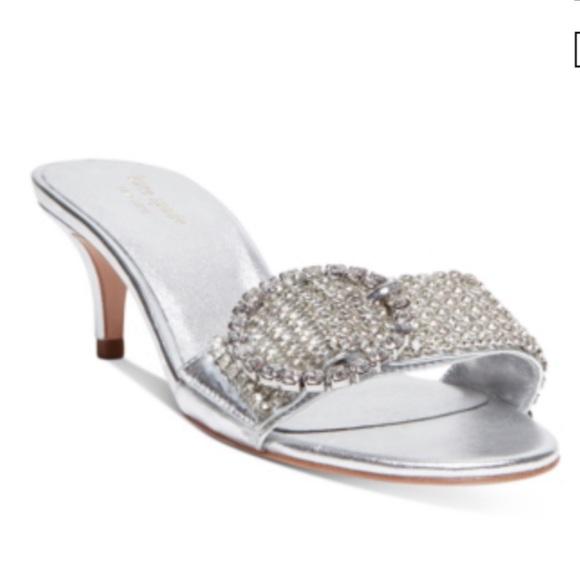 Seville Silver Rhinestone Sandal Size